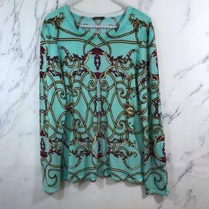 J. McLaughlin Chain Print Thin Knit Sweater